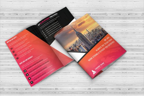 Professional Look Construction Bifold Brochure