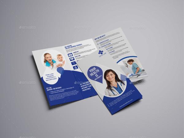 Professional Medical Tri-Fold Brochure Template