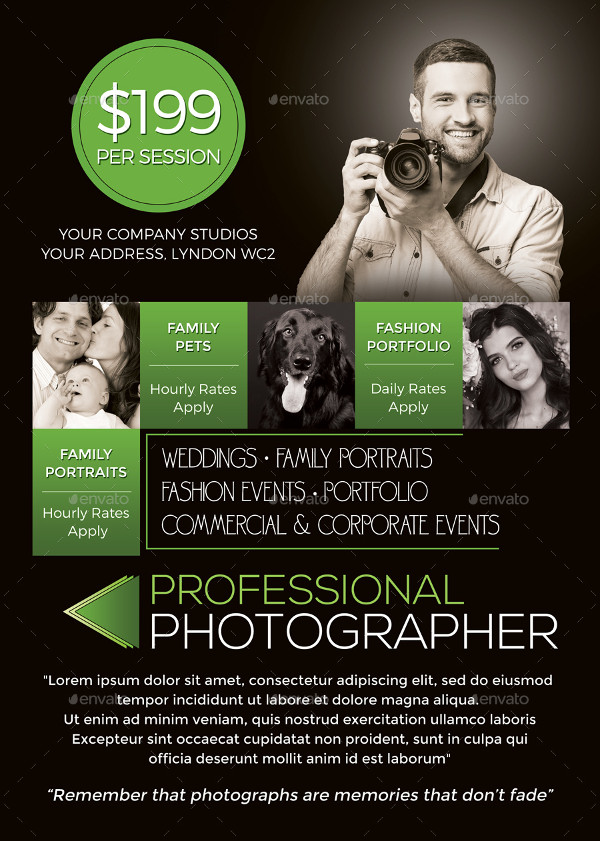 Professional Photographer Flyer Template