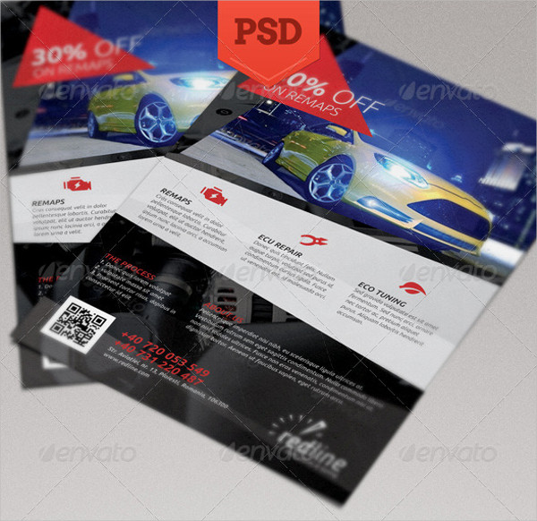Auto Repair Promotion Flyer Template