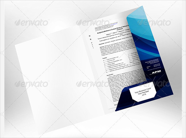 Proposal Paper Folder Mock-Up