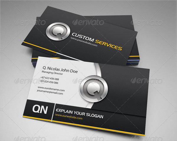 QN Services Business Card Template