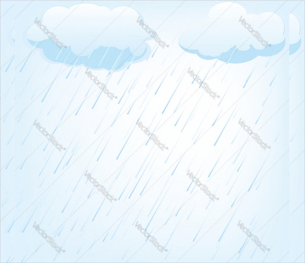 Rain Vector Background