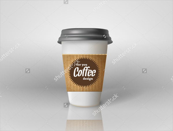Realistic Coffee Cup Design Mockup