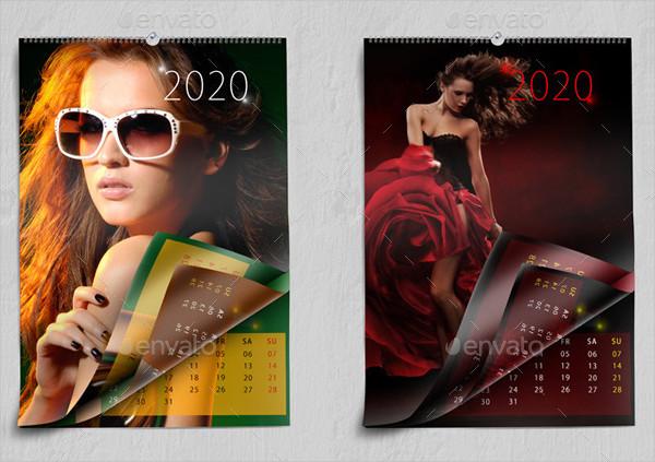 Realistic Wall Calendars Mockup