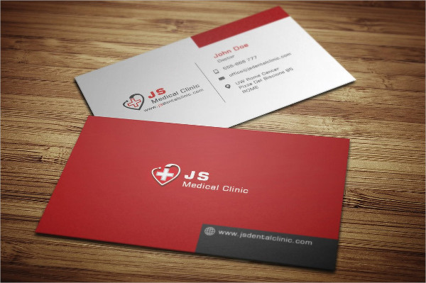 Fully Editable Medical Business Card Template