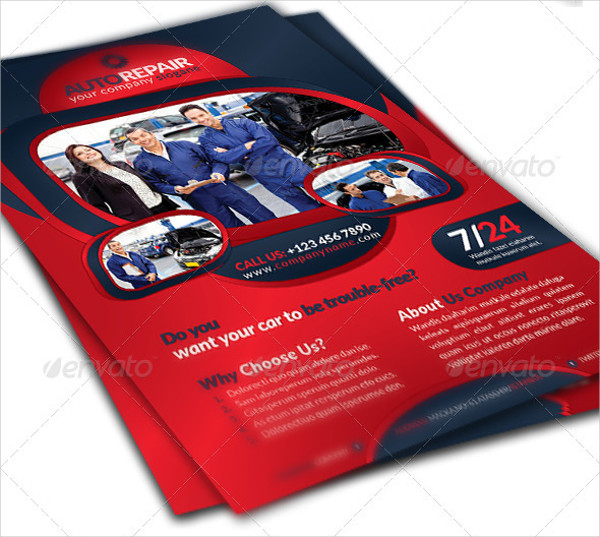 Auto Repair Station Flyer Template