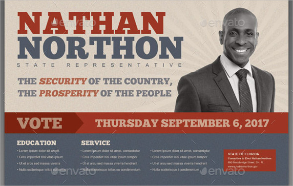 Political Representative Flyer Template