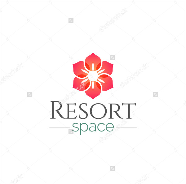 Perfect Flower Logo Template for Resort