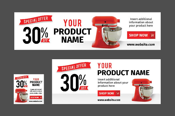 Retail Marketing Web Banners