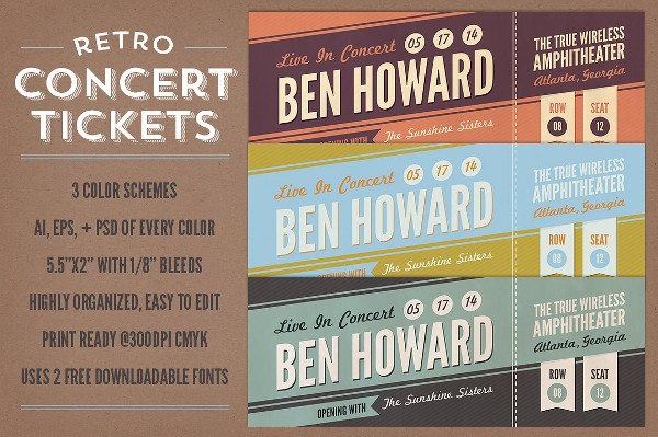 Retro Concert Tickets