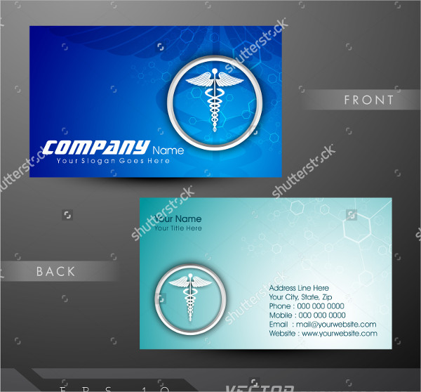 Funky Medical Business Cards