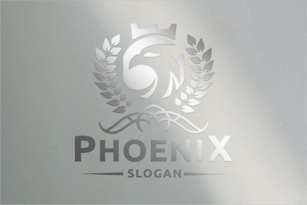 Retro Phoenix Logo Template