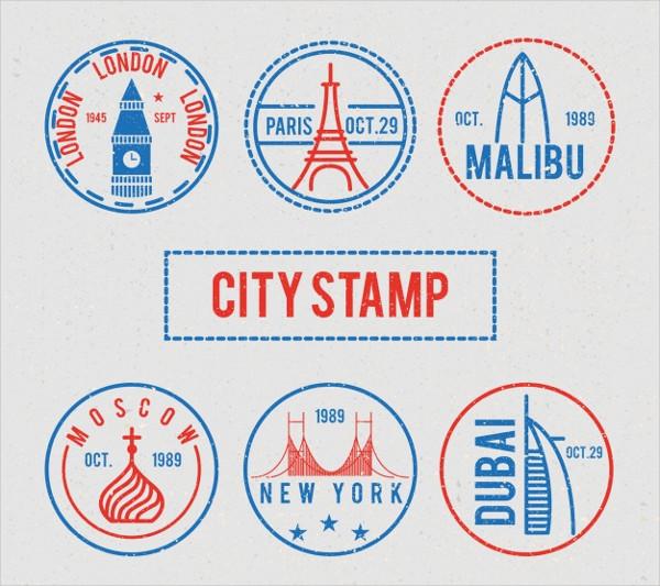 Round City Stamps