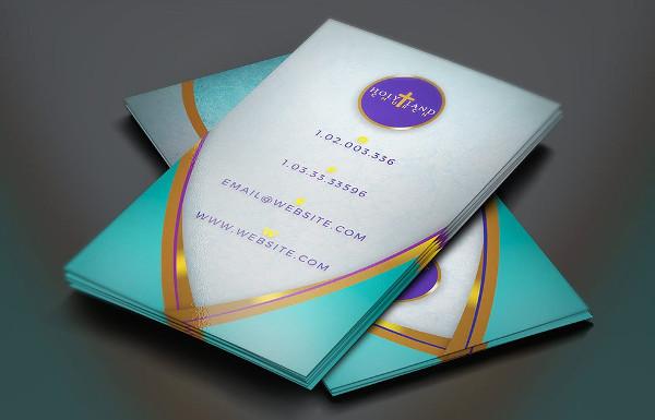Royal Teal Church Business Card