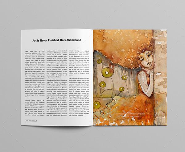 Beautiful Art Magazines Template