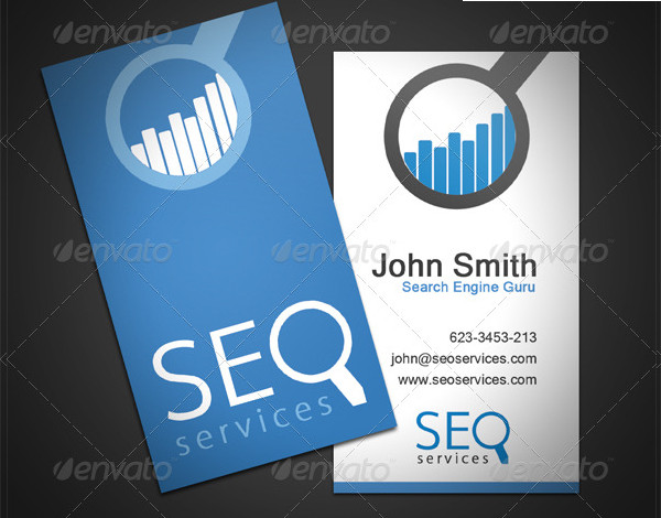 SEO Services Business Card Template
