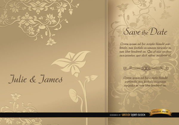 Save the Date Floral Brochures Free