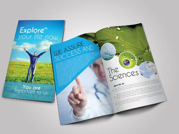 Scientific Medical Bifold Brochure Template