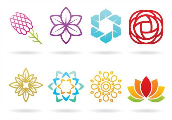 Set of Flower Logos Free