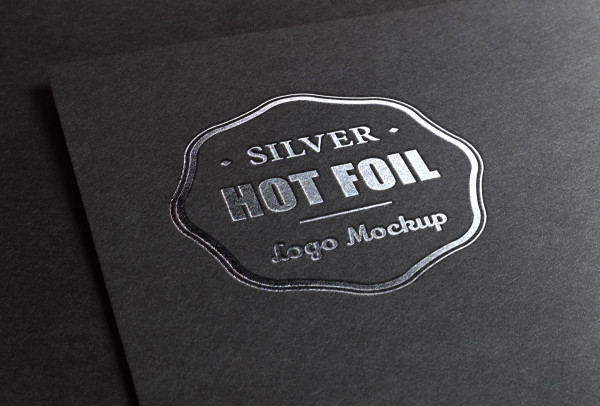 Silver Stamping Logo Mock-Up Free Download
