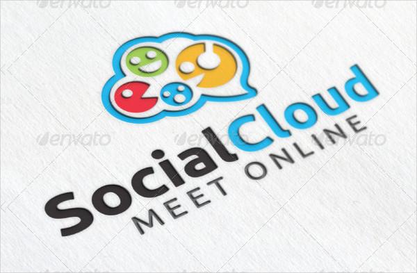 Social Cloud Logo Template