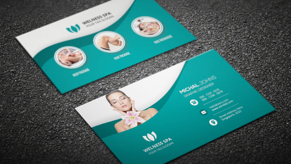 23 spa salon business card templates free premium download spa business card accmission Gallery