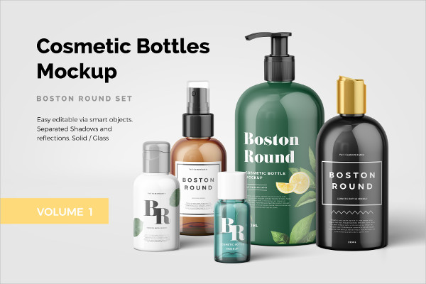 Spa Cosmetic Package Mockups