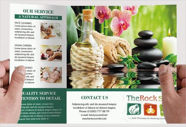 Spa Free PSD Tri-Fold Brochure Template