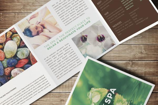 Square Spa Brochure Template