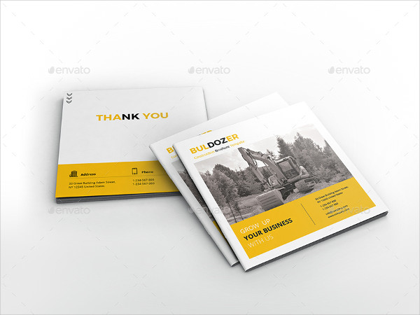 Square Construction Brochure Template