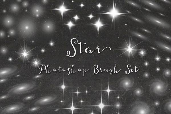 Clean Star Photoshop Brush Set
