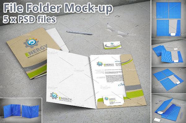 PSD Stationary File Folder Mock-Up