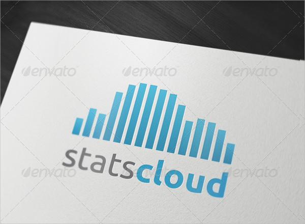 Stats Cloud Logo Template
