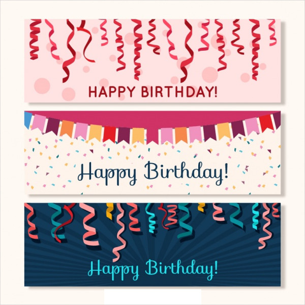 Streamer Banners and Garland Birthday Free Download