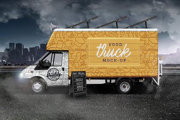 Street Food Van Mock-Up