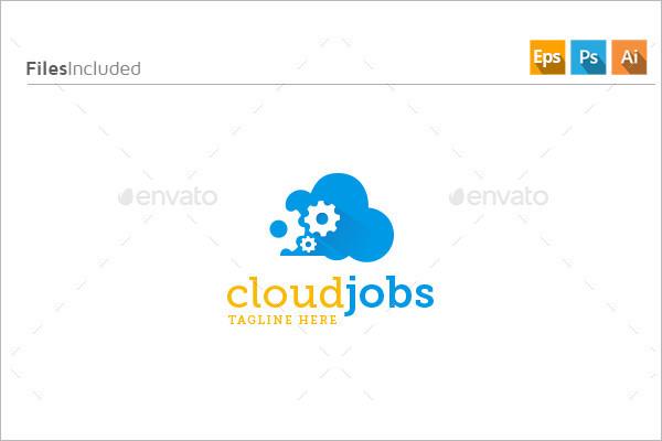 Stylish Cloud Logo Template