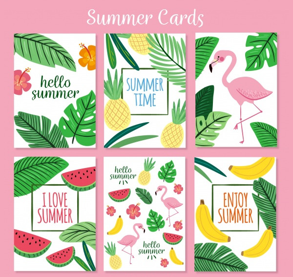 Collection of Summer Cards for Holidays Free Download