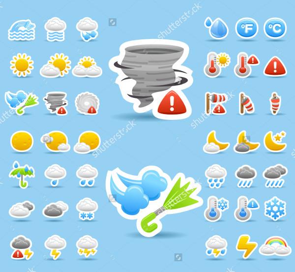 Hand Drawn Weather Icon Set