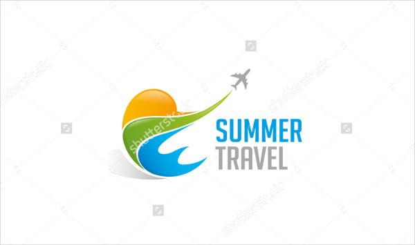 Summer Travel Vector Logo