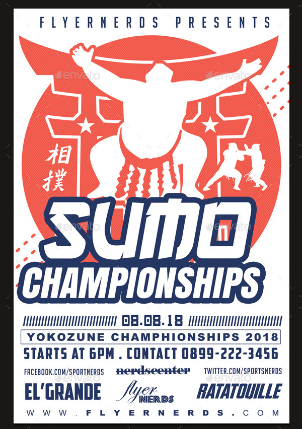 Sumo Championships Sports Flyer