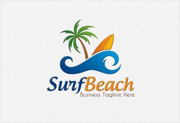 Surf Beach Logo Template