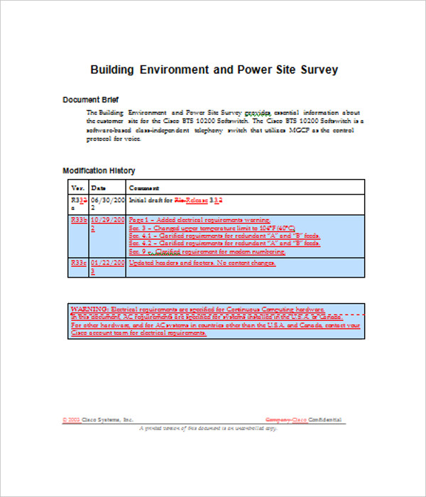 Survey Site Template