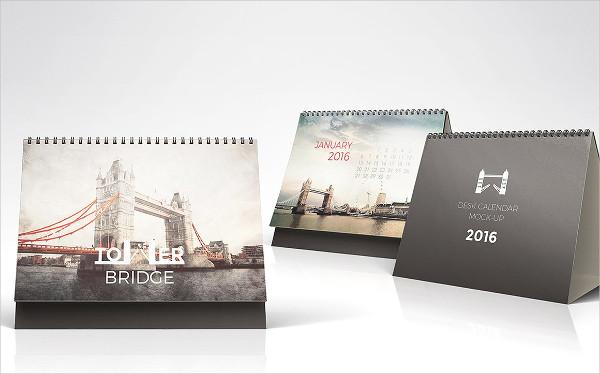 PSD Table Calendar Mock-Up