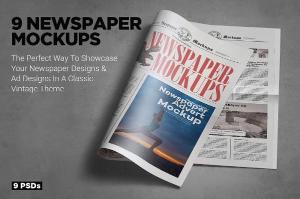 Tabloid Size Newspaper Mockups