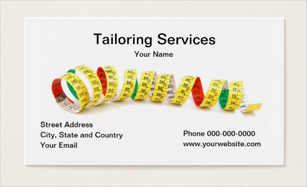 Tailoring Services Business Card Template