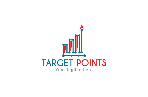 Target Points Analysis Logo Design