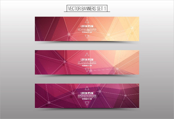 Technological Vector Web Banners Set