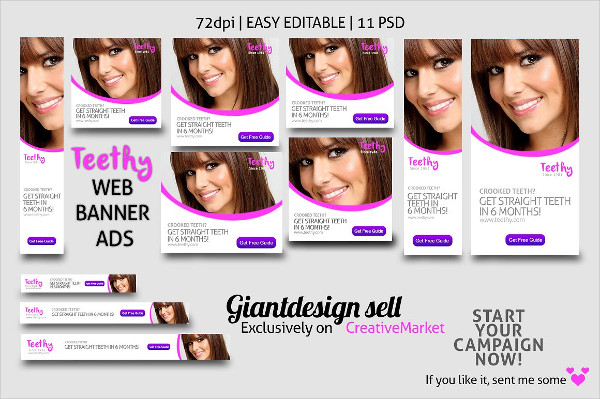 Teethy Web Banner Ads
