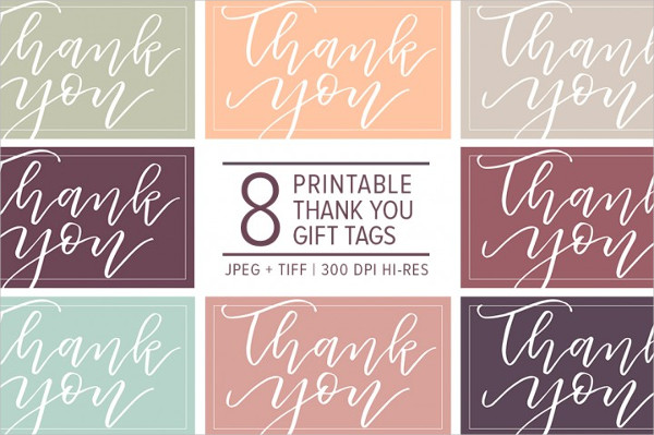 Thank You Wedding Gift Tags